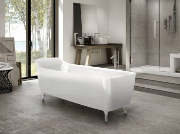 Encore Aria freestanding bathtub by Fleurco