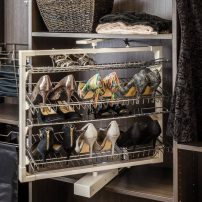 Rotating shoe organizer by Hardware Resources