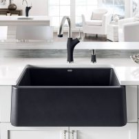 Blanco Silgranite apron front sink in cinder