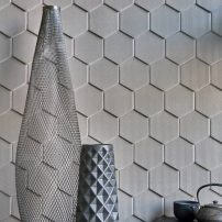 Angle Hex — Knit Series textural wall tile in Felt by Walker Zanger