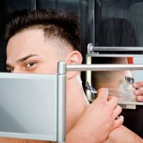 Dual vanity mirror by Synergy Products