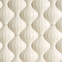 Lantern textural wall tile — Kaza Series in Hello Eternity by Walker Zanger