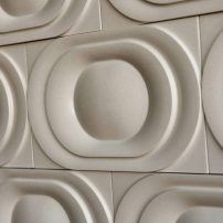 Saturn wall tile — Kaza Series in Warm Gray by Walker Zanger
