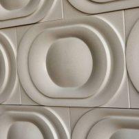Saturn wall tile — Kaza Series in Warm Gray by Walker Zanger
