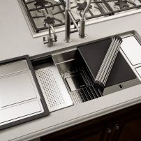 Franke Chef Center sink with accessories