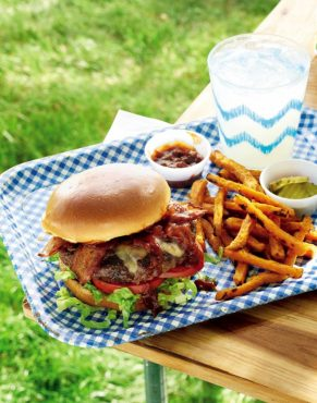 Bacon Cheeseburgers with Kentucky Bourbon Sauce