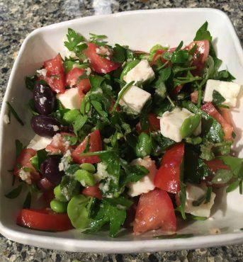 Fava Feta Salad