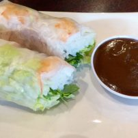 Fresh spring rolls are a favorite