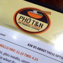 Pho T&N menu