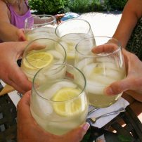 Cheers to good friends and fresh lemonade.