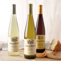 From left to right: Chateau Ste Michelle's Dry Riesling, Riesling and Harvest Select Sweet Riesling