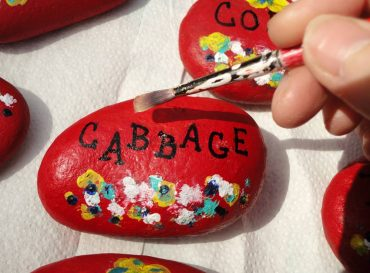 Painted Rocks Garden Markers