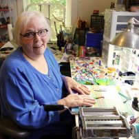 Polymer Clay Art - Susan Hyde in her studio where the magic takes place