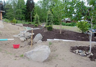 The second rain garden will collect runoff from their new home.
