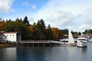 Gig Harbor BoatShop - A view of the Eddon boatshop including the pier