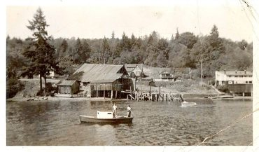 Gig Harbor BoatShop - The Anderson Boatyard — the Eddon Boatyard sits to the right of the structure pictured. The Anderson Boatyard was reportedly torn down in the early '40s to make way for the existing facility.