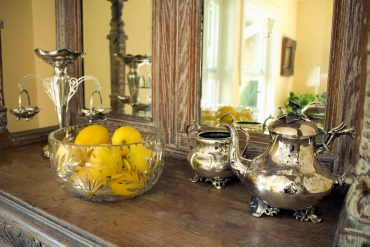 An English Country Cottage in Hansville - No proper English home would be complete without a tea service.