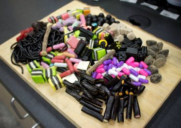 The licorice selection is not limited to candy — selection includes things like licorice pasta and licorice shampoo.