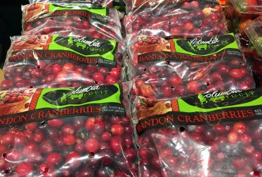Cranberries at the market