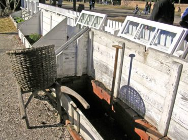 Wonderful cold frames have been in use a long time. Recycled windows and deep boxes used in the historic village of Williamsburg, Virginia.