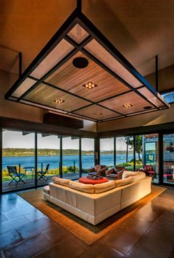 Colvos Passage Home - Living room with a view