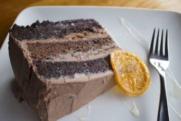 Vegan chocolate orange cake
