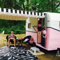 """Betty,"" the vintage trailer"