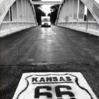 One of few remaining bridges, the Rainbow Arch Bridge in Riverton, Kansas