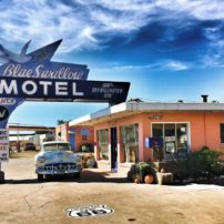 Fantastic restoration work has been done to the Blue Swallow Motel in Tucumcari, New Mexico.