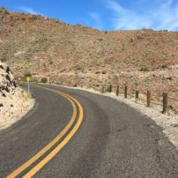 The Route winds through this pass on the way to Oatman and the California border.