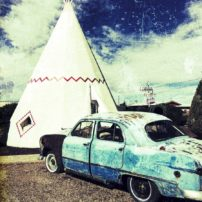 The famous and nicely restored Wigwam Motel in Holbrook, Arizona