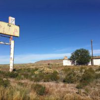 A bygone restaurant in Chambers, New Mexico