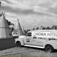 The sister Wigwam Motel can be found still operating in Rialto, California.