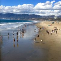 Santa Monica Beach and the Pacific Ocean