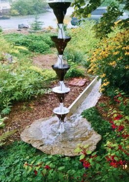 There are lots of creative options for integrating a rain garden into your yard's design. (Photo by the Hanson Family)