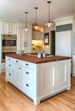 John Boos cherry butcher block island top (Photo courtesy Jacqueline Scott with Legacy Kitchen & Bath)