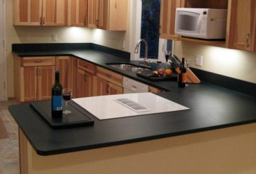 PaperStone kitchen counter in Evergreen (Photo courtesy Panel Tech)