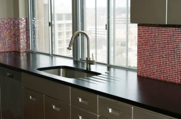 PaperStone kitchen counter in Slate (Photo courtesy Panel Tech)