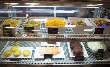 The deli case has locally sourced, house-made sides and more.