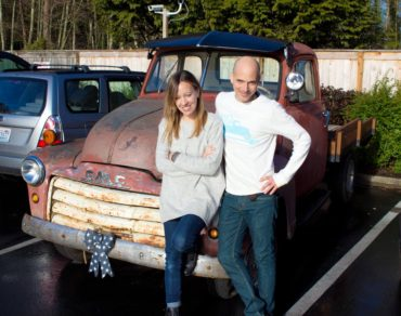 Jake and his wife, Kristi and their pickup­