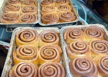 "The cinnamon rolls are out of this world and only available on Saturday. Text ""roll me"" to 206-899-0699 to find out when they are hot out of the oven."
