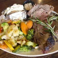 Prime rib is served every Friday night.