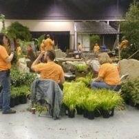 Teamwork gets the gardens built.