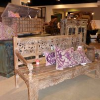 Handcrafted bench from Classic Home