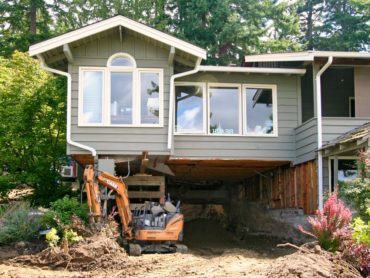 Fourteen feet was excavated under the house to add nearly 1,000 square feet of living space for the family.