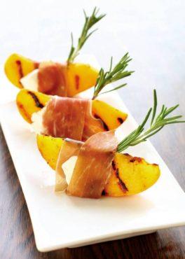 Peachy Prosciutto Bites