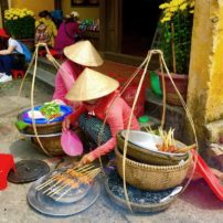 Street food vendors in Hoi An