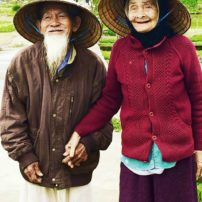 Vietnamese couple — he is 97 and she is 95 years old