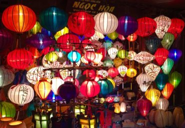 Lantern vendor selling many options