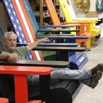 Doug Woodside, builder of the Big Chairs of Kingston
